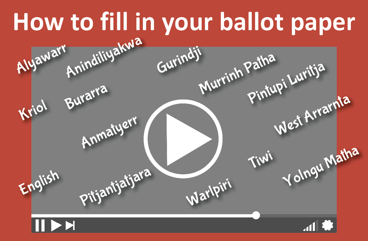 View how to fill in your ballot paper videos in many languages