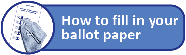 How to completed a ballot paper link button
